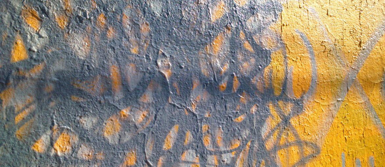 Pared con grafiti